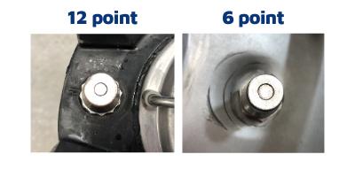ball lock post sizes