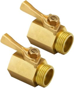 "TOMPOL Hose Shut Off Valve- 3/4"", Heavy Duty Brass Garden Shut Off Valve Fit All Garden Hose Connector.Easy to Connect with 3/4"" Brass Connector Hose.(2pack & 4 Hose Washers)"