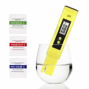 IDEALHOUSE PH Meter 0.01 High Accuracy Quality 0-14 Measurement Range, Water PH Tester for Household Drinking, Pool and Aquarium Water