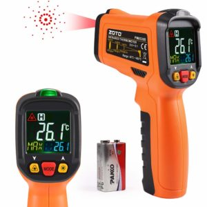 Digital Laser Infrared Thermometer,ZOTO Non Contact Temperature Gun Instant-Read -58℉ to 1022℉ with LED Display for Kitchen Cooking BBQ Automotive and Industrial PM6530B Thermometer