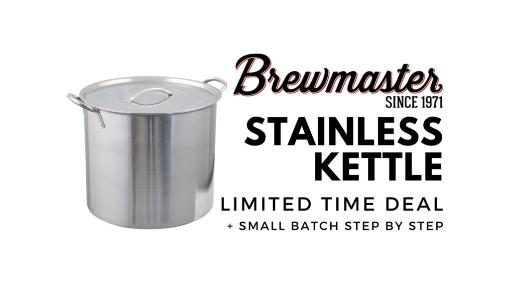 homebrewing stainless steel brew kettle