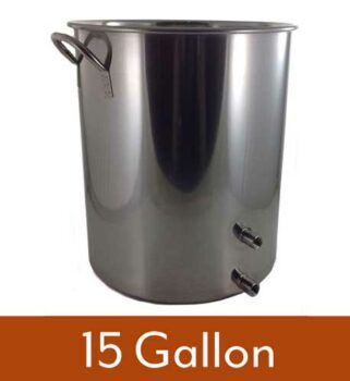 15 Gallon 2 Weld Volume Marked Brew Pot