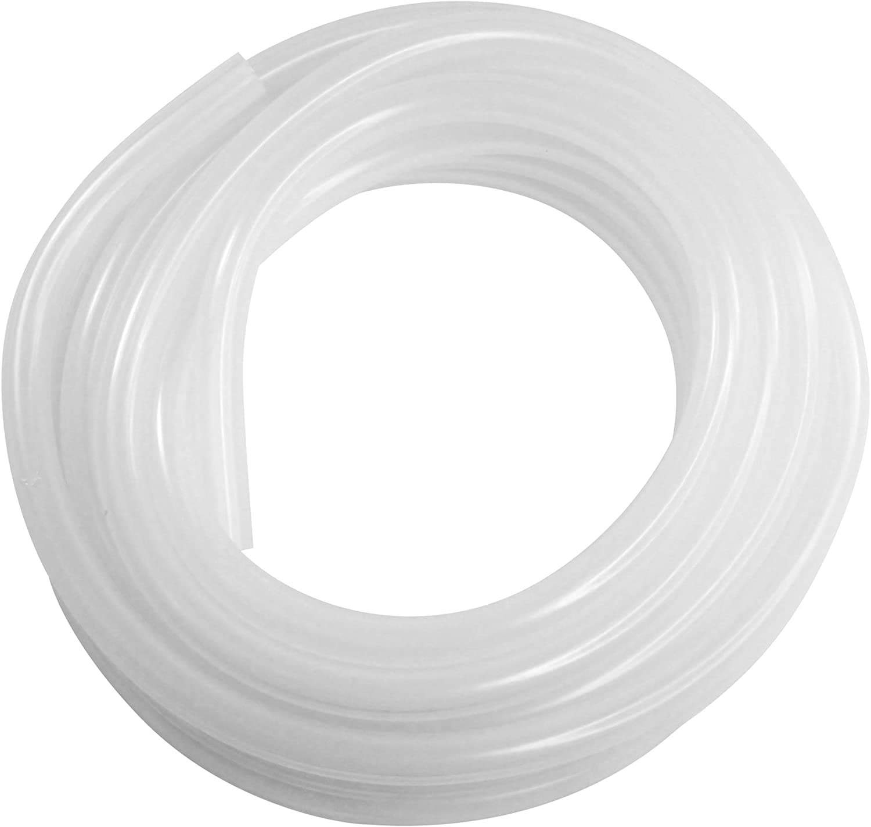 "Silicone Tubing - 10 Foot Piece (High Temp Hose - 500F) (1/2"" I.D. x 5/8"" O.D. x 10 Foot)"