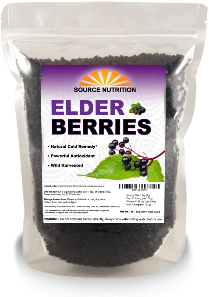 Dried Elderberries - 1 lb - Whole European Elderberry, Responsibly Wild Crafted, Perfect for Tea, Syrups, and More - Sambucas Nigra
