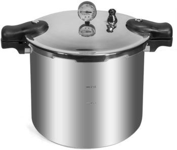 Barton 22-Quart Pressure Canner Pressure Cooker Built-in Pressure Gauge with Rack Induction Compatible, Aluminum Polished 22 QT