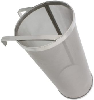 Brewing 6x14in Hopper Spider Strainer – Stainless Steel 300 Micron Mesh Homebrew Hops Beer & Tea Kettle Brew Filter
