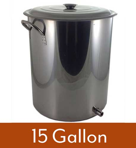 15 Gallon 1 Weld Volume Marked Brew Pot