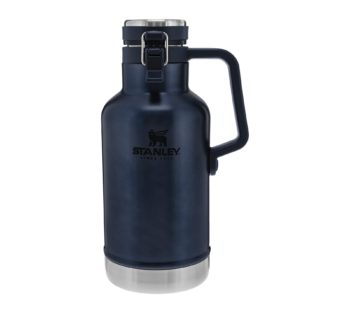 Stanley Classic Easy-Pour Growler 64oz, Insulated Growler Keeps Beer Cold and Carbonated Made with Stainless Steel Interior, Durable Exterior Coating and Leak-Proof Lid, Easy to Carry Handle