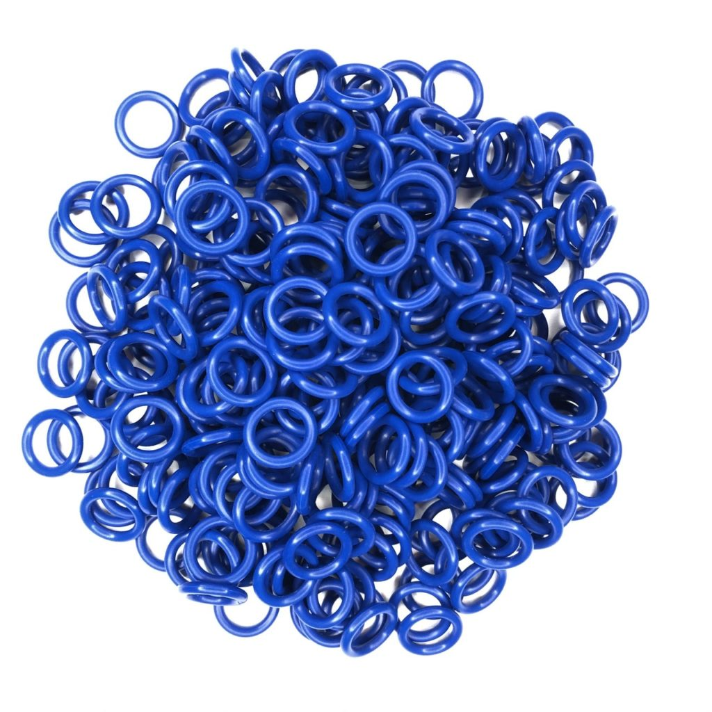 Keg Post O-Rings - Food Safe Silicone - in BLUE