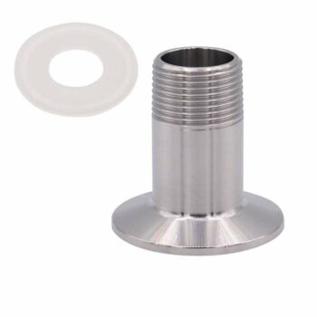 HONGLU Sanitary Male Threaded Pipe Fitting to 1.5 INCH (OD 50.5mm Ferrule) TRI CLAMP Pipe Size: 1/2 Inch NPT SUS304