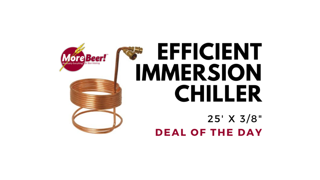Immersion Wort Chiller (Efficient) - 25 ft. x 3/8 in. (With Fittings)