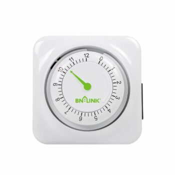 BN-LINK 12 Hour Mechanical Accurate Countdown Timer with Grounded Pin - Energy Saving for Kitchen, Phone Charger, Lamps, Security 1875W, 1/2 HP, ETL Listed