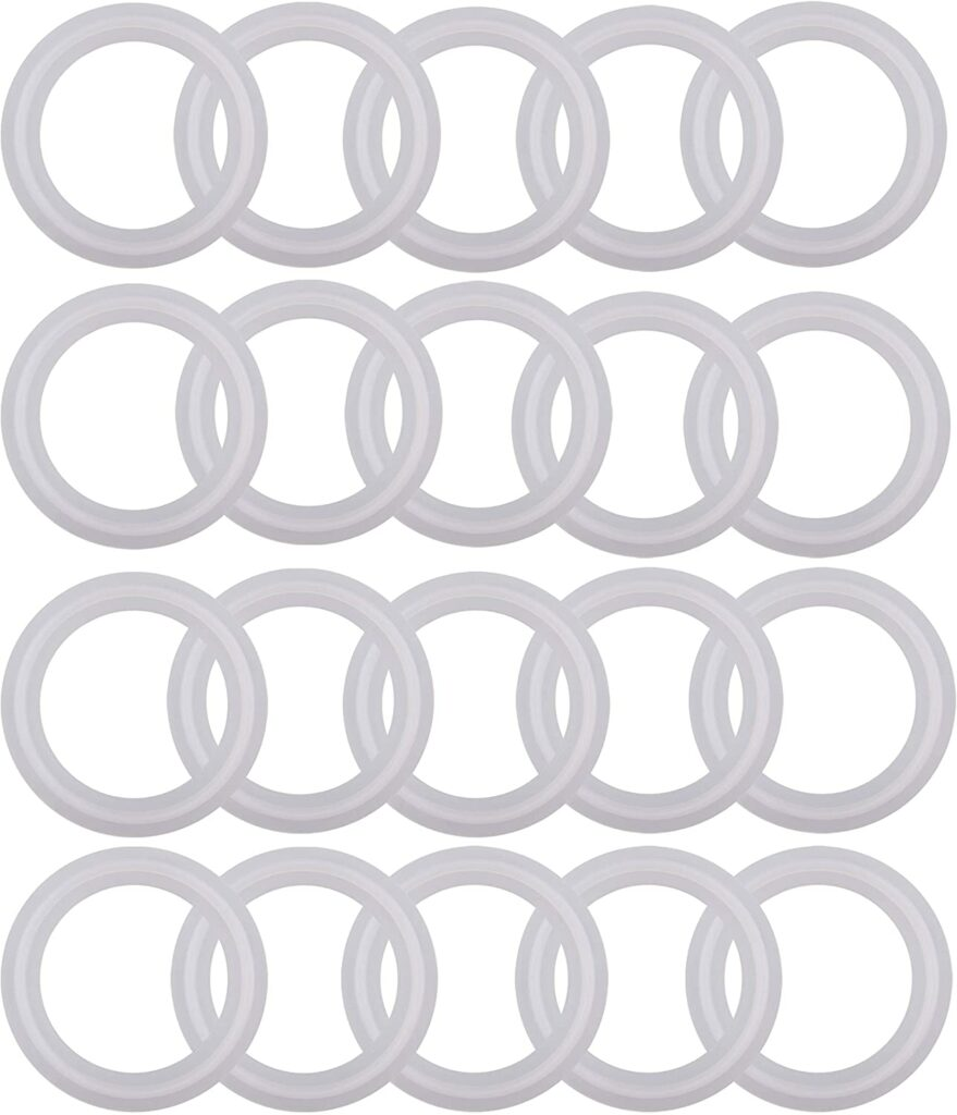 Silicon Tri clamp Gasket for Tri Clover Fittings O-Ring- 1.5 inch, (Pack of 20)