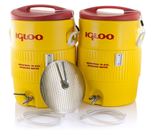 10 Gallon Converted Igloo Cooler Mash Tun With False Bottom AND HLT