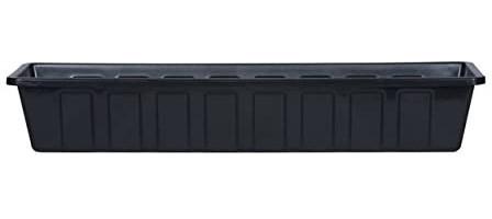 Novelty Poly-Pro Plastic Flower Box Planter, Black, 30-Inch