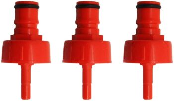 "3pak PLASTIC CARBONATION & LINE CLEANING CAP,Carbonation Cap 1/4"" Barb, Ball Lock Type, Fit Soft Drink PET Bottles"