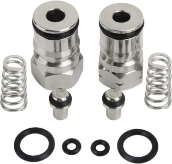 Ball Lock Keg Post Gas Liquid Adapter Connector Replacement Set Liquid Gas Ball Lock Keg Post Kit Stainless Steel Poppet Spring Rubber O-ring Fit Cornelius Keg Carbonation Keg Post Gas Liquid - TOSUNY