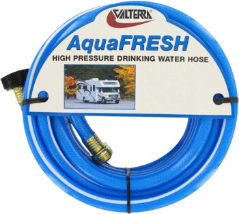 "Valterra AquaFresh High Pressure Drinking Water Hose, Water Hose Hookup for RV - 1/2"" x 50', Blue"