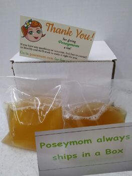 Poseymom Double Pack Kombucha Scobies and Starter Tea | (No Vinegar or Artificial Flavors Added) (Make 1/2 Gallon (1/2Cup Starter)Each