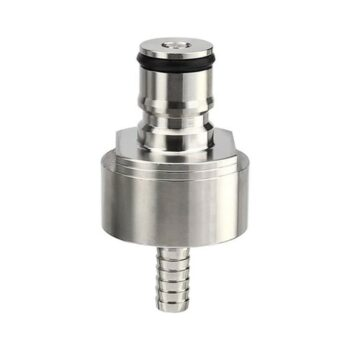 "ProMaker Stainless Steel Carbonation Cap Counter Pressure Bottle Filling with 5/16"" Barb Ball Lock Type CO2 Coupling Carbonate Soda Beer Fruit Juice Water (1 Pcs)"