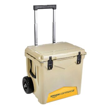 AmazonCommercial Rotomolded Coolers, 45 Quart Towable, Tan