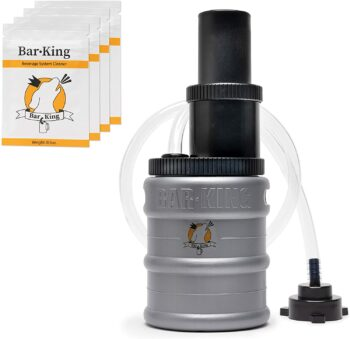 Bar-King's Quick-Connect Beer Line Cleaning kit for American Sankey (D System) keg couplers. Finally, cleaning your lines is simple! Comes with Super No Rinse Cleaning Powder
