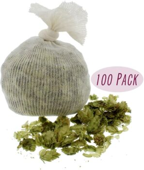 Muslin Cloth Steeping Bag – Reusable Mesh Strainer Bag – BIAB Grain Bag, Hops Bag, Brew Bag, Homebrew – Pack of 100