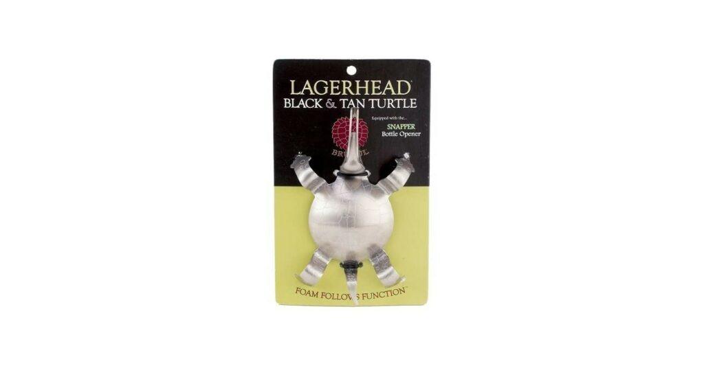 Brutul Black And Tan Turtle Beer Layering Tool, Stainless Steel