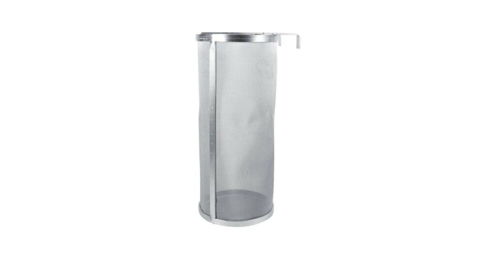 Hops Filter, 6x14 inch Stainless Steel Cylinder Hanging Hops Spider Strainer, Suitable for Beer Brewing Filtration