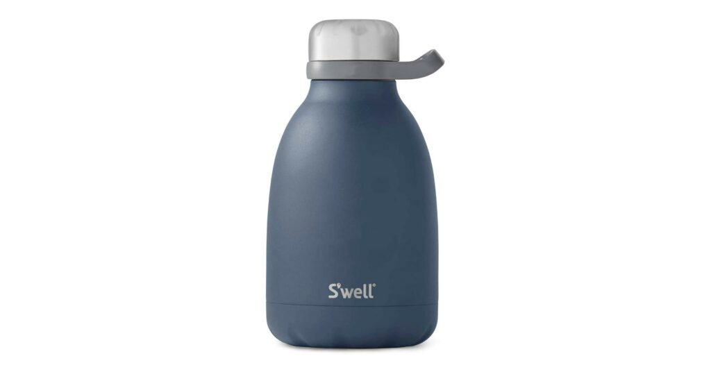 S'well Stainless Steel Roamer Bottle - 40 Fl Oz - Azurite - Triple-Layered Vacuum-Insulated Containers Keeps Drinks Cold for 48 Hours and Hot for 16 - BPA-Free Travel Water Bottle