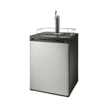 Insignia™ - 5.6 Cu. Ft. 1-Tap Beverage Cooler Kegerator - Stainless steel