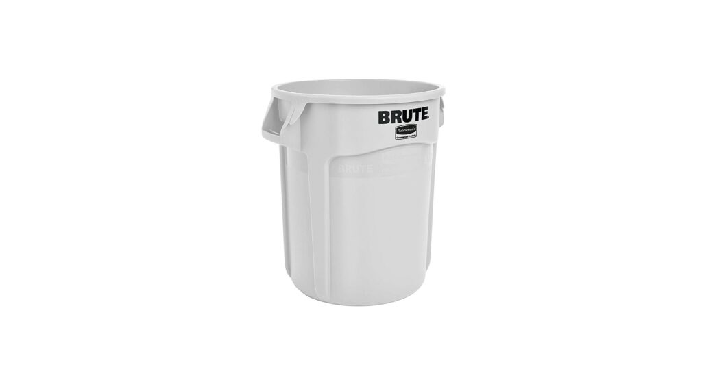 Rubbermaid Commercial Products Brute Waste Container, 10 Gallon, White
