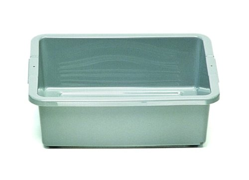 """Rubbermaid Commercial 3349 4-5/8-Gallon Capacity, 20"""" Length x 15"""" Width x 5"""" Height, Gray Color, High-Density Polyethylene Bus and Utility Box"""