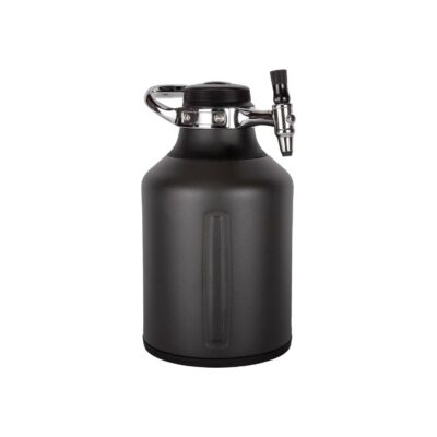 GrowlerWerks uKeg Go Carbonated Growler and Craft Beverage Dispenser for Beer, Soda, Cider, Kombucha and Cocktails, 128 oz, Tungsten