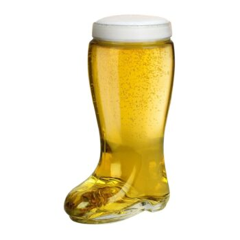 Das Boot Style One Liter Beer Glass - Oktoberfest Themed Large Oversize German Stein that Holds Over 2 Bottles