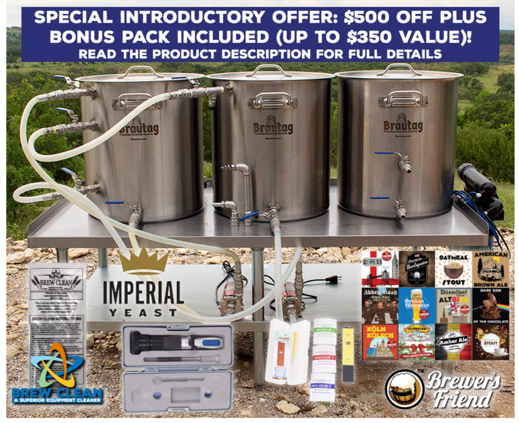 Brautag | 3 Vessel HERMS 20 Gallon Brewing System