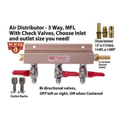 Air Distributor - 3 way, With Check Valves