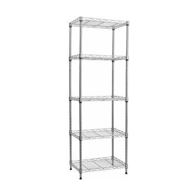 5-Wire Shelving Metal Storage Rack Adjustable Shelves, Standing Storage Shelf Units for Laundry Bathroom Kitchen Pantry Closet