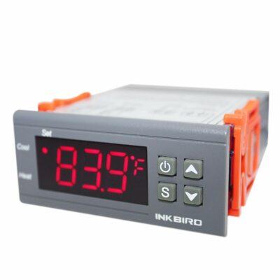 Inkbird All-Purpose Digital Temperature Controller Fahrenheit and Centigrade Thermostat with Sensor 2 Relays ITC-1000F for Refrigerator Fermenter