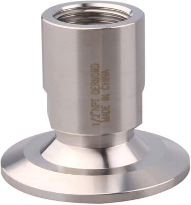 DERNORD 1.5'' Tri clamp Adapter to 1/2 inch FNPT Thread Ferrule Sanitary Pipe Fitting