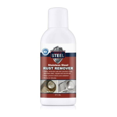 Stainless Steel Cleaner & Rust Remover- Works like magic in Minutes, perfect to rescue appliances commercial kitchen bbq refrigerators range stovetop