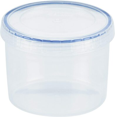 Lock & Lock Easy Essentials Twist Food Storage lids/Airtight containers, BPA Free, Short-22 oz