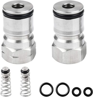 Keg Post for Cornelius Type Ball Lock Keg Stainless Steel Corny Keg Post with Poppet Keg Post with Spring 19/32-18 Female Thread Gas Post Liquid Post with Strong Replacement O Rings