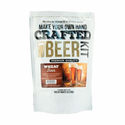 ABC Crafted Series Beer Making Kit | Beer Making Ingredients for Home Brewing | Yields 6 Gallons of Beer | (Wheat Beer)