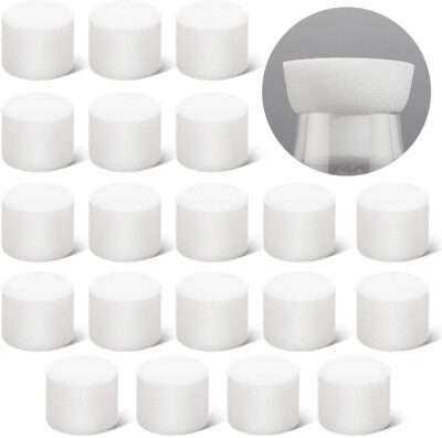 20 Pieces Foam Stopper Plastic Foam Plug 50mm Openings for Tubes and Flasks, Beer Making, Yeast Starter