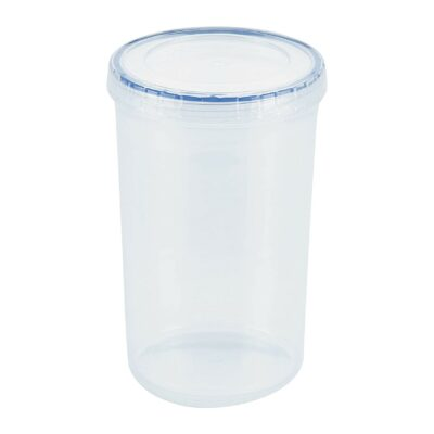 Lock & Lock Easy Essentials Twist Food Storage lids/Airtight containers, BPA Free, Tall-44 oz-for Pasta, Clear