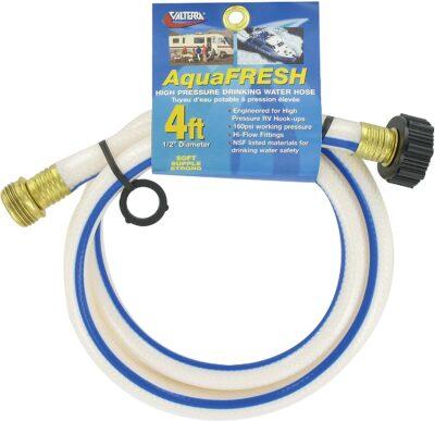 "Valterra AquaFresh High Pressure Drinking Water Hose, Water Hose Hookup for RV - 1/2"" x 4', White"
