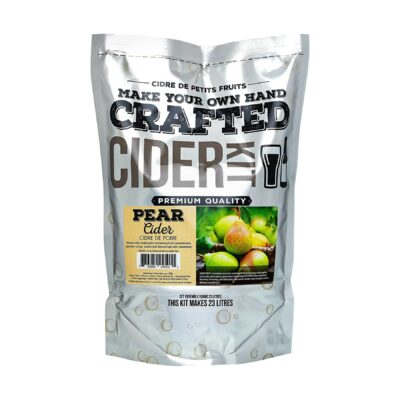 ABC Crafted Series Cider Making Kit | Hard Cider Making Ingredients for Home Brewing | Yields 6 Gallons of Hard Cider| (Pear)