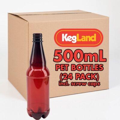 PET Beer Bottles - 500 mL (Case of 24) B281