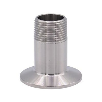 """DERNORD Sanitary Male Threaded Pipe Fitting to TRI CLAMP (OD 50.5mm Ferrule) (Pipe Size: 1/2"""" NPT)"""